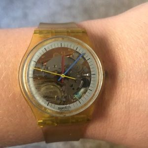 Vintage  1985 Swatch Watch GK100 Jellyfish